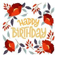 Alles Gute zum Geburtstag Grußkarte vektor