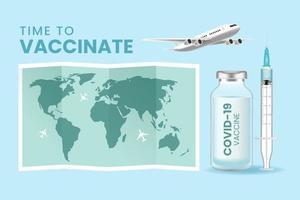 Hintergrund des Coronavirus-Impfstoffvektors vektor
