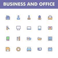 affärssymbolspaket isolerad på vit bakgrund. för din webbdesign, logotyp, app, ui. vektorgrafikillustration och redigerbar stroke. eps 10. vektor