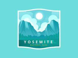 Yosemite National Park Vektorillustration