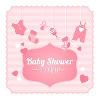 Baby-Dusche-Hintergrund vektor