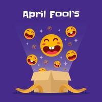 lustige Aprilscherz-Tagesbox vektor