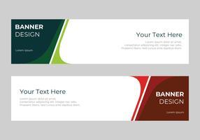 Unternehmens-Web-Header-Vorlage vektor