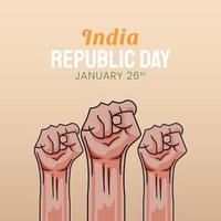 handritad illustration av indiska republikens dag