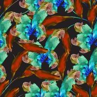 moderner minimaler abstrakter organischer Blumenmusterentwurf vektor