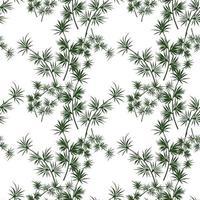 abstraktes modernes florales minimales organisches Musterdesign vektor