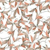 modernes florales minimal abstraktes organisches Musterdesign vektor