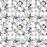 modernes abstraktes organisches Blumenwiederholungsmusterdesign vektor