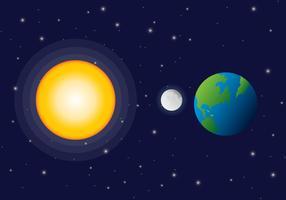 Sonnenfinsternis-Vektor-Raum-Ansicht