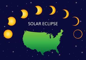 usa solförmörkelse vektor