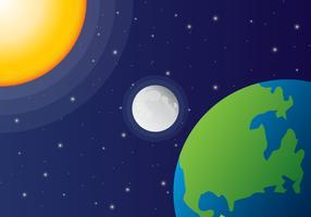 solförmörkelse vektor rymdvy