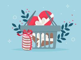 alla hjärtans dag shopping väska. älskar presentpåsar vektor