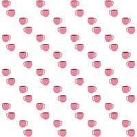Valentinskarte mit Kaffeetassen Makronendessert. liebe dich nahtloses Muster. vektor