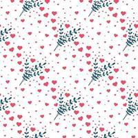 hjärta sömlösa mönster. Alla hjärtans dag bakgrund. vektor illustration