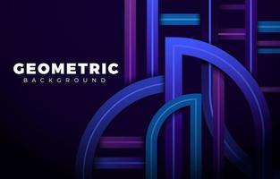 futuristischer moderner Liniengeometrischer Hintergrund vektor