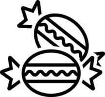 linje ikon för bonbon vektor