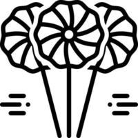 linje ikon för lolipop