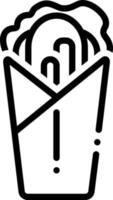 linje ikon för shawarma