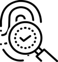 linje-ikon för fingeravtrycksidentitet