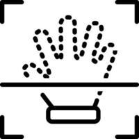 linje ikon för handavtryck