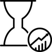 linjeikon för produktivitet vektor