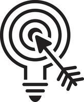 Liniensymbol für Marketing