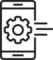 linje ikon för mobil