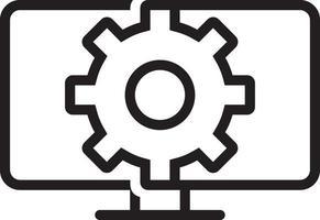 linje ikon för webben vektor