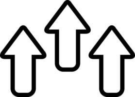 linje ikon för pil