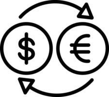 Liniensymbol für Geld vektor