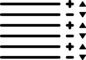 linje ikon för lager