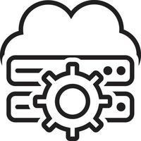 linje ikon för moln