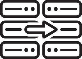 linje ikon för kopia vektor