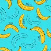 sommar sömlösa mönster. ljust tryck med bananstil.