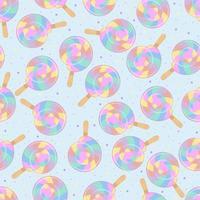 bunter Lutscher. Regenbogen-Spiralkugel und süßes Streuen. nahtloser Hintergrund für Kinderkleidung.