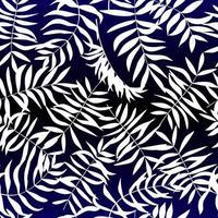 weiße tropische Blätter. nahtloses Muster für Stoff, Geschenkpapier und Web. vektor