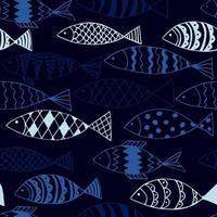 lustiger Fisch. Kinder Hintergrund. nahtloses Muster.