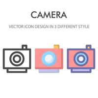 Kamera-Icon-Pack isoliert auf weißem Hintergrund. für Ihr Website-Design, Logo, App, UI. Vektorgrafiken Illustration und bearbeitbarer Strich. eps 10.