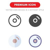 skiva ikon pack isolerad på vit bakgrund. för din webbdesign, logotyp, app, ui. vektorgrafikillustration och redigerbar stroke. eps 10.