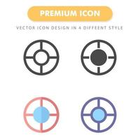 mål ikon pack isolerad på vit bakgrund. för din webbdesign, logotyp, app, ui. vektorgrafikillustration och redigerbar stroke. eps 10. vektor