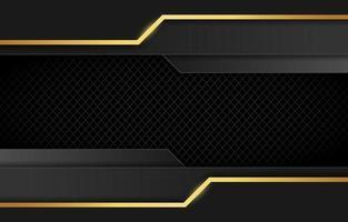 luxuriöser schwarz-goldener Hintergrund vektor