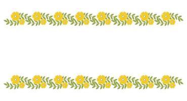 florale Randelemente. schöne Frühlingsrahmen der botanischen Blüte vektor