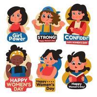 Aufkleber März Frauentag vektor
