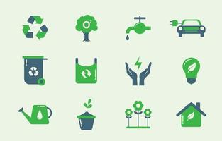 Earth Day Icon Pack vektor