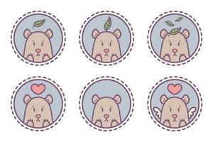 uppsättning björnemblem, ikoner, etiketter. vektor