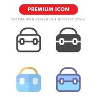 väska ikon pack isolerad på vit bakgrund. för din webbdesign, logotyp, app, ui. vektorgrafikillustration och redigerbar stroke. eps 10. vektor