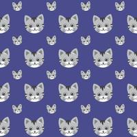 niedliche Katzenvektormuster, Illustrationen auf farbigem Hintergrund. vektor