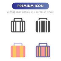 Aktentaschen-Symbol lokalisiert auf weißem Hintergrund. für Ihr Website-Design, Logo, App, UI. Vektorgrafiken Illustration und bearbeitbarer Strich. eps 10. vektor