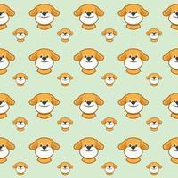 sömlösa mönster med söta hundar. vektorillustration med roliga valpar. bakgrund för tyg, textildesign, omslagspapper eller tapeter. vektor