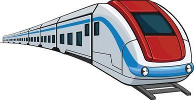 tåg tunnelbana express intercity tecknad vektorillustration vektor